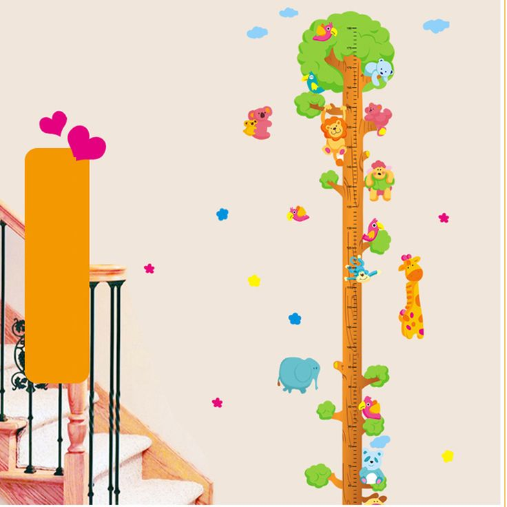 Find More Wall Stickers Information about 1pc Animal Tree Height Stickers Children Room Wall Sticker Livingroom Background Removable Mural Home Decorative Sticker 2081WS,High Quality stickers avery,China home dual Suppliers, Cheap sticker name from NAAN GUO Store on Aliexpress.com
