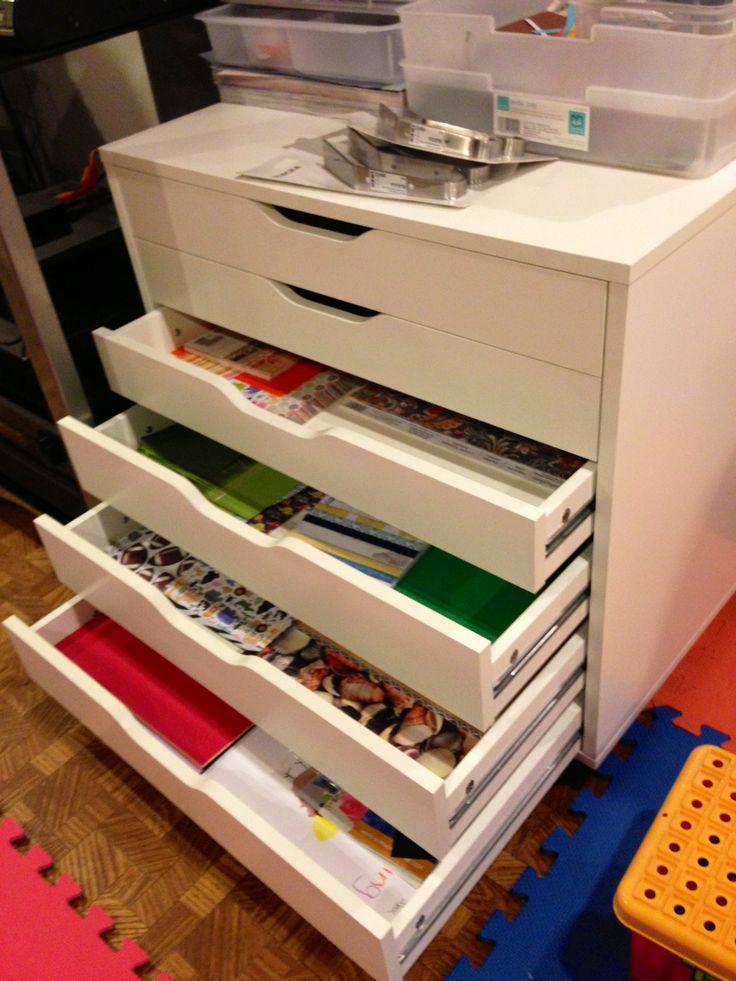 rangement alex ikea scrap room pinterest scrap scraproom et rangement. Black Bedroom Furniture Sets. Home Design Ideas