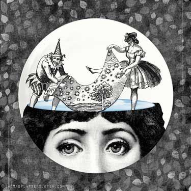 sognare ad occhi aperti Cavalieri piatto in melamina