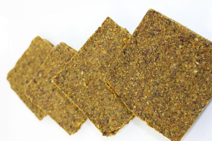 Raw vegan bread. Very nutritious and great for cravings!