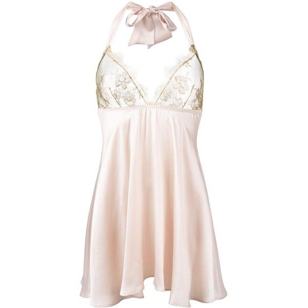 Gilda & Pearl 'Harlow' babydoll ($327) ❤ liked on Polyvore featuring intimates, lingerie, nude, nude lingerie, doll lingerie, baby doll lingerie and babydoll lingerie