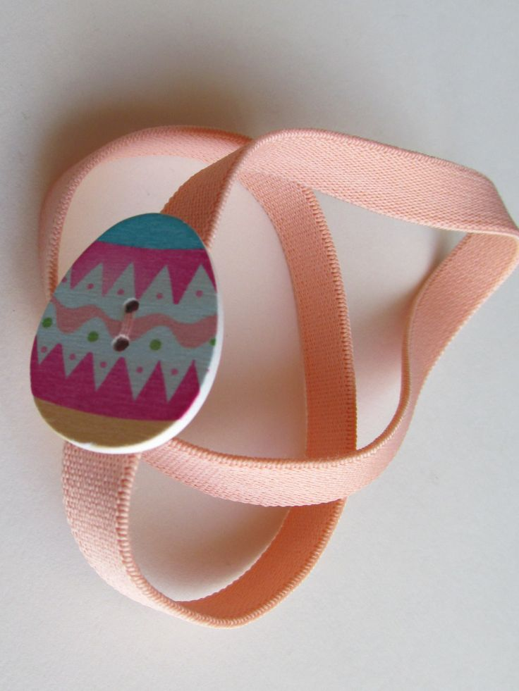 Peach Easter Egg Button Headband by Buttonnuthin on Etsy