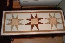 Barna patchwork csillagos terítő