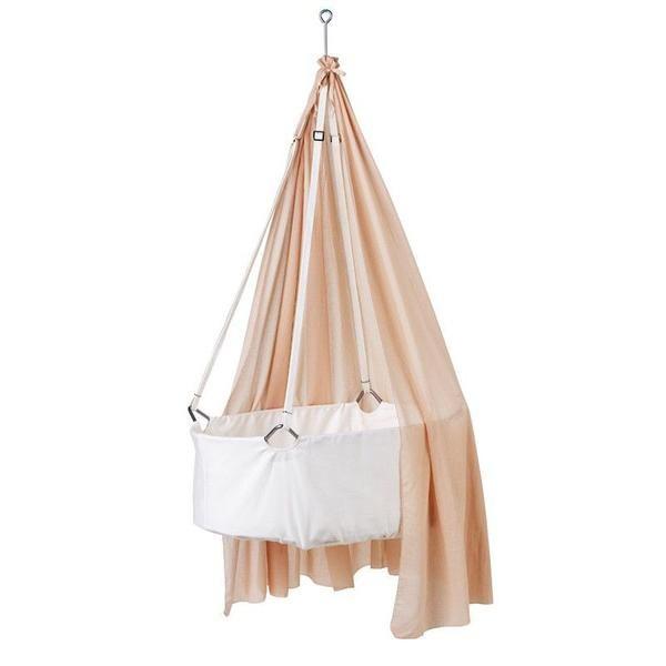 Leander  Babywiege  Weiss/Soft Pink