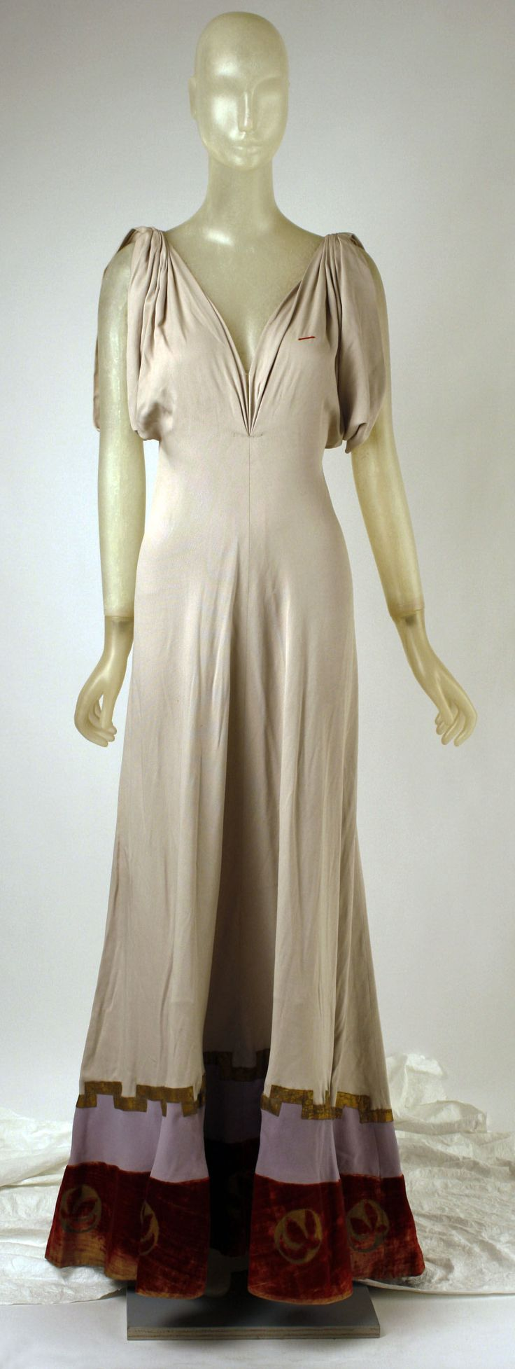 Evening Dress, Madeleine Vionnet (French, Chilleurs-aux-Bois 1876–1975 Paris): 1938, French, silk, metal.