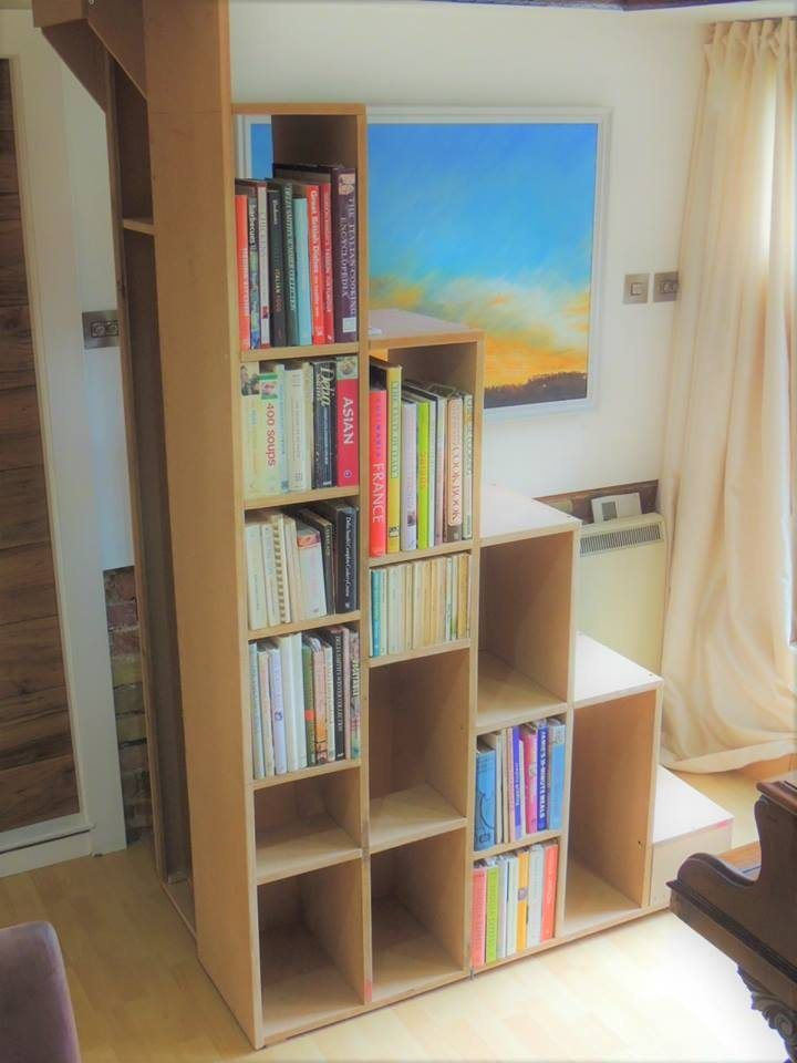 Bookcase Alternating tread stair, Beccles, Vaughan Keal