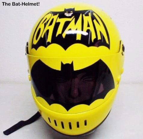 Custom Batman helmet.