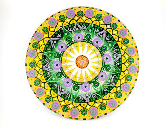 Painting with lotus flowers and geometric by DreamingMandalas