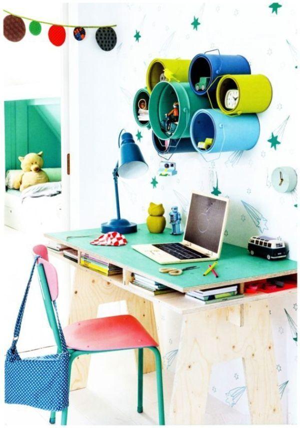 kinderzimmer gestalten farbdosen lernecke organisieren