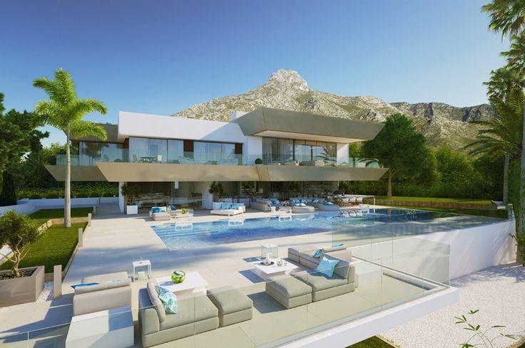Unique Contemporary Villa in Sierra Blanca for €6.9M / https://butterflyresidential.com/en/show/sale/32763/ 6 Beds / 5 Baths / Built: 1.050m2 / Plot: 2.024m2