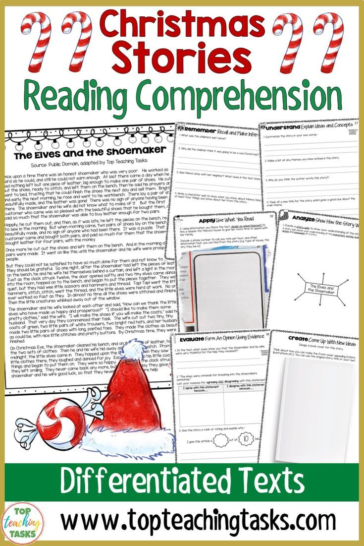 Christmas Stories Literature Reading Comprehension Passages With Questions Top Teaching Tasks Reading Comprehension Passages Christmas Reading Passages Reading Comprehension Christmas comprehension worksheets 5th