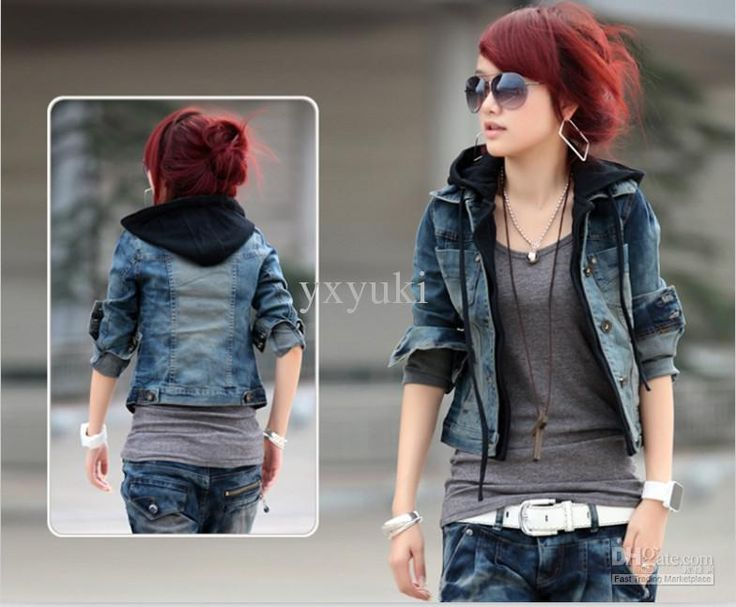 Cheap Jean Jacket - Best Casual Women Jean Jacket Spring Autumn Hat Single Online with $26.85/Piece | DHgate
