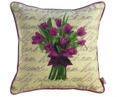 Purple Tulips Párnahuzat 43x43cm