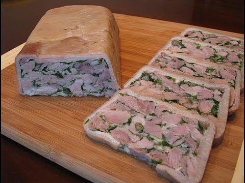 Рецепт Рулета из свиной рульки, Свиной рулет. Очень вкусно. Домашняя кухня. - YouTube