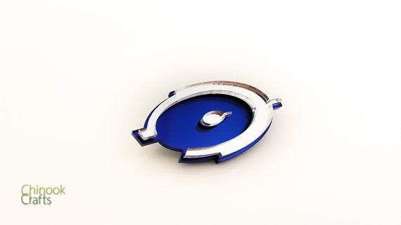 Halo Logo Lasercut Pin by ChinookCrafts on Etsy