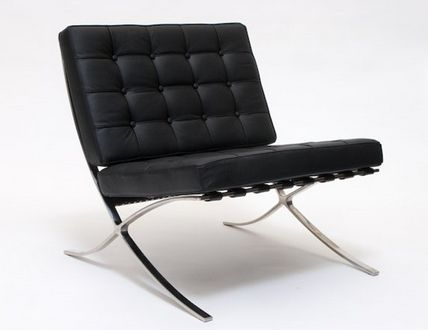 Barcelona Chair Black - £700.00 - Hicks and Hicks