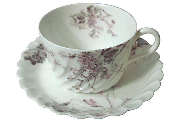 Haviland Swirled Cup