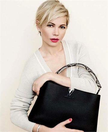 Michelle Williams for Louis Vuitton Parnasséa new Capucines Noir / Python