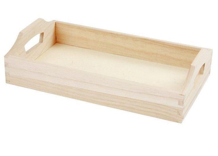 Tablett Holz, 30 x 17 x 5 cm
