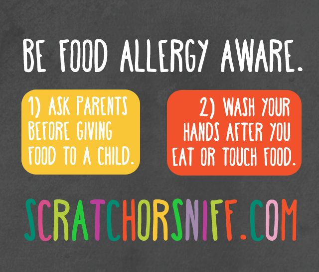 Be Food Allergy Aware   Scratch or Sniff