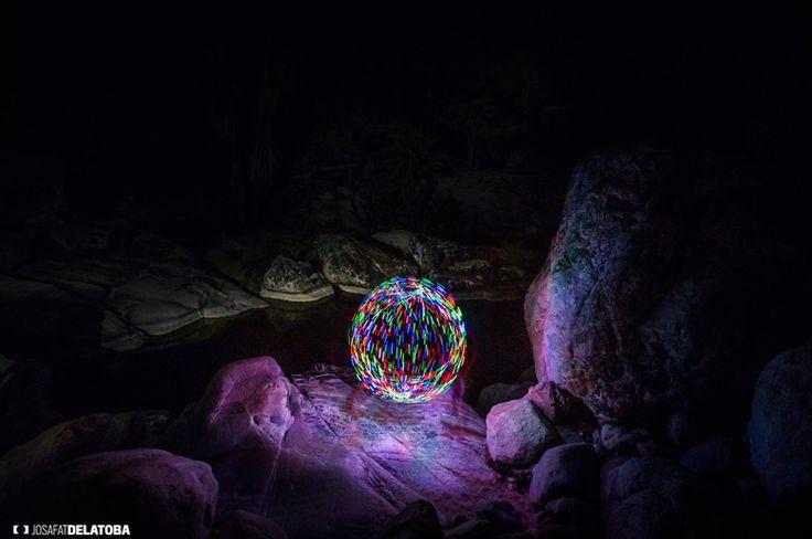 Colorful circle made whit lights #josafatdelatoba # #mexico #bajacaliforniasur #loscabos #cabophotographer #lightpainting