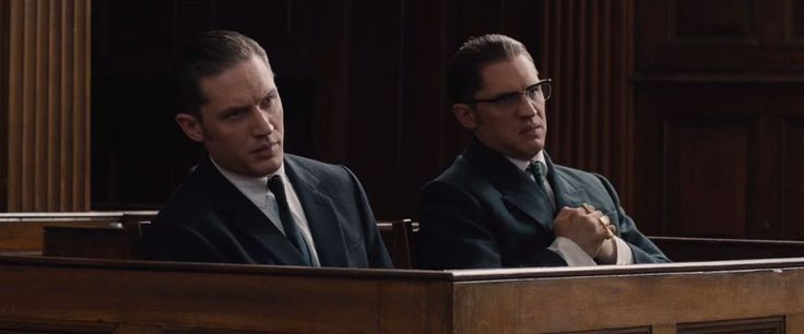 Tom Hardy x2 as Reggie and Ron Kray in Legend