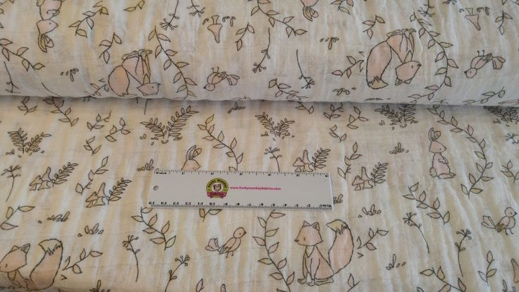 Funky Monkey Fabrics Inc. - Small Wonders Pink Double Gauze - 1/2 yard, $7.00 (http://funkymonkeyfabrics.com/small-wonders-pink-double-gauze-1-2-yard/)