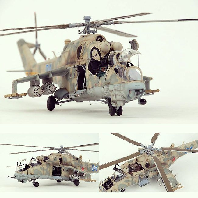 Mi-24 HIND 1/32 Trumpeter. Modeler Hong Hwan Jang