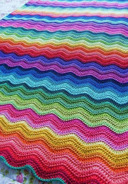 FIFIA CROCHETA blog de crochê : crochê ponto zig zag. Ripple pattern.