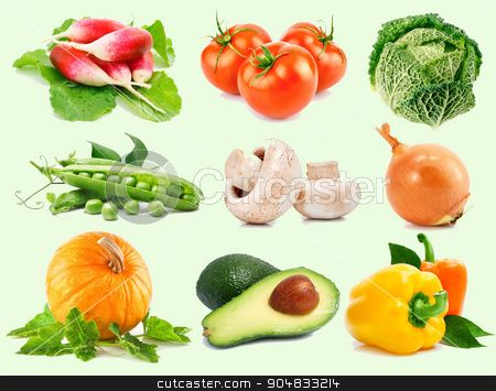 fresh vegetables with green leaves stock photo