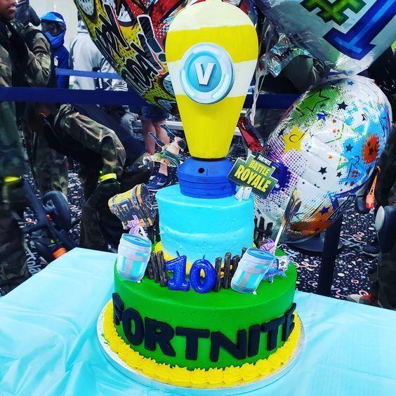 Fortnite Birthday Cake   Ninja birthday cake, 10 birthday ...
