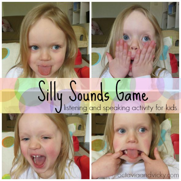Silly Sounds Game - a fun speech and language activity for kids