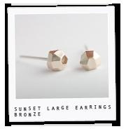 Sunset Rocks Large Earrings – Bronze