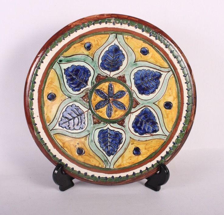 Carlo Manzoni (ex Della Robbia Pottery) Arts & Craft Charger Plate circa 1895  | eBay
