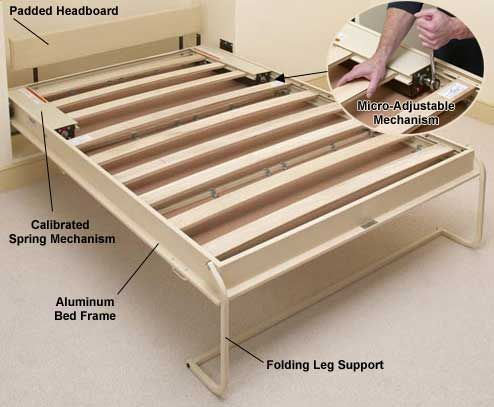 best 25 murphy bed frame ideas on pinterest queen size quilt dimensions bed size charts and bed sizes - Murphy Bed Frame