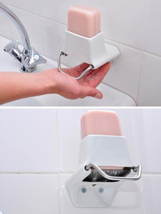 soap grater - for those that love a bar of soap but not dropping them!?