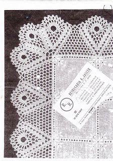 Riscos e Gráficos de crochet: Barrado com canto para toalha
