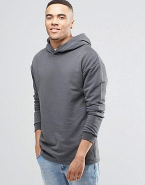 Jack and Jones Hoodie with Layered Arm Detail £35.00 @ Asos
