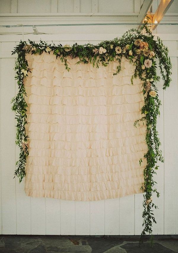 Pretty leafy wedding backdrop