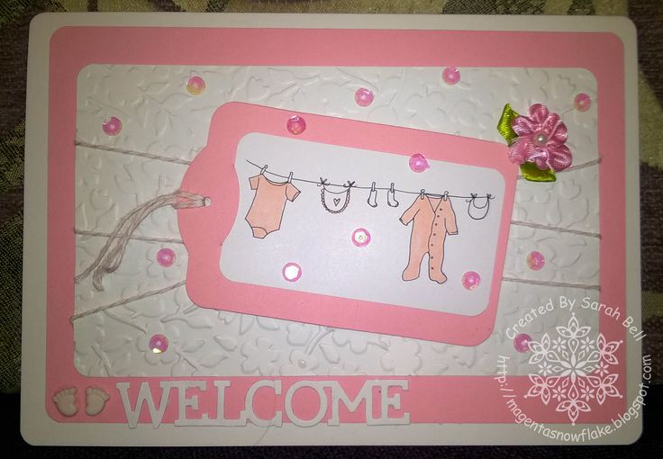 Designed by Sarah Bell - Baby Washing Line Digi Stamp by LC Designs