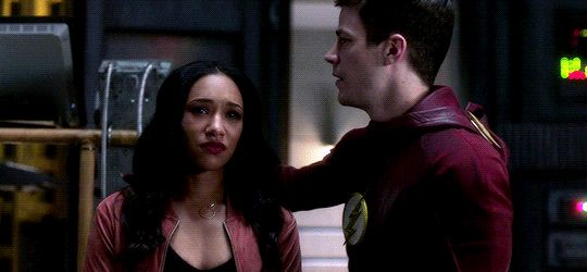 Gracious, I love Barry and Iris. They do their best to stick to the moral high ground and encourage one another to do so, even when it's painfully hard. And it's not that they don't *want* to be selfish and/or petty...it's that they team up to be better, to fight that urge, to stay strong, and I love that <3 (Gif from westallengifs on tumblr) |TV Shows|CW|#The Flash gifs|Season 3|3x18|Abra Kadabra|Barry Allen|Iris West|#Westallen hug gifs|Grant Gustin|Candice Patton|#DCTV|Favorite couples|