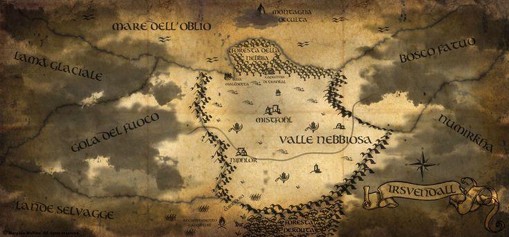 """Tracciare una #mappa, sin dall'inizio della stesura di """"Il Mondo Caduto"""", si è rivelato un passaggio fondamentale: nonostante si tratti di un racconto ...  #scrivere #ioleggoperchè #libri #fantasy #mondofantasy #diy #photoshop"""