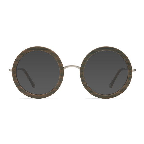 Women's Joplin - Brown Striped round - 17947 Rx Sunglasses ($52) ❤ liked on Polyvore featuring accessories, eyewear, sunglasses, round lens glasses, brown glasses, hippie glasses, vintage glasses and round lens sunglasses
