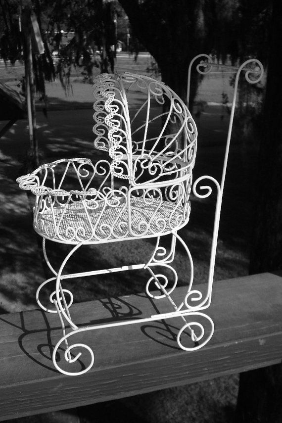 set of 10 antique wire carriages perfect for baby shower decorations