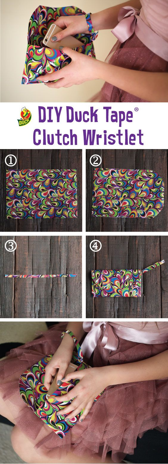 DIY duct tape clutch wristlet for prom! Make your prom outfit out of Duck Tape and enter the 2017 Stuck at Prom Scholarship Contest for a chance to win part of $50,000 in prizes!