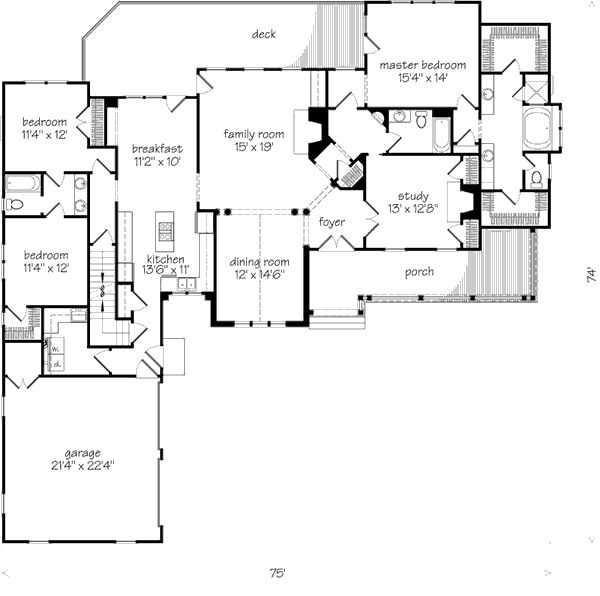 55 best images about house plans on pinterest house for L shaped craftsman home plans