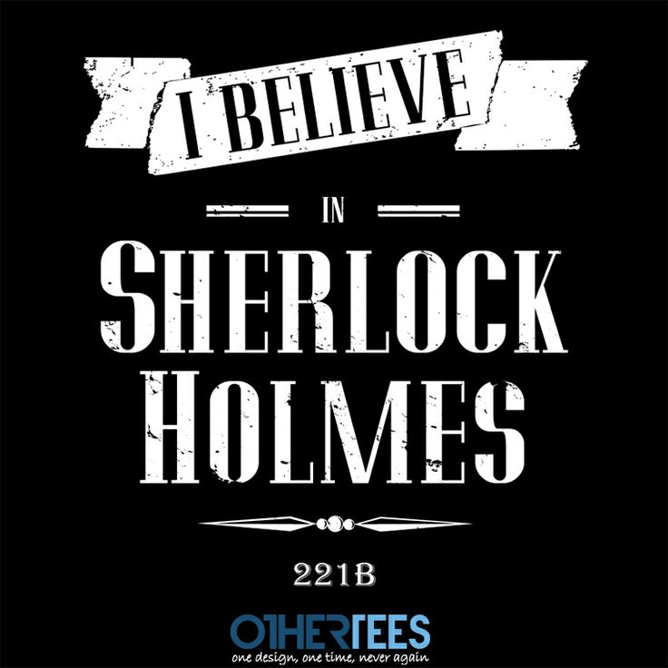 I Believe by Fishbiscuit Shirt on sale until 07 March on http://othertees.com #sherlock