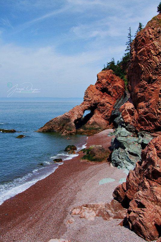 Keyhole Rock Cape Chignecto by J Doupe ~ Nova Scotia, Canada**