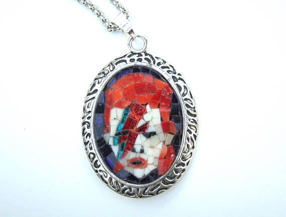 Collana David Bowie / Micro mosaico /Ziggy Stardust / Collana