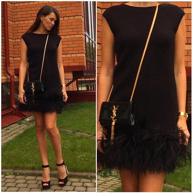 Платье, украшенное страусиными перьями доступно к заказу и в других цветах!!!❤️